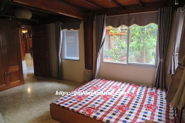 Unique wooden house in Ba Dinh for rent 1